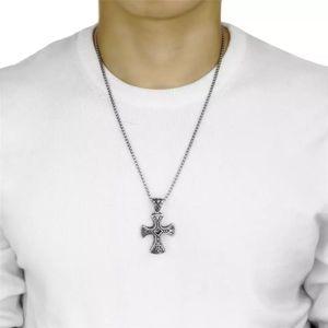 Retro Black Natural Stones Cross